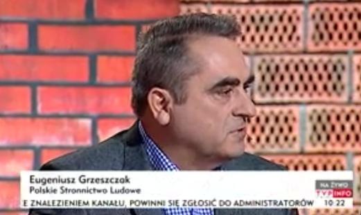 """Wicemarszałek Eugeniusz Grzeszczak w programie """"Woronicza 17"""" TVP Info"""