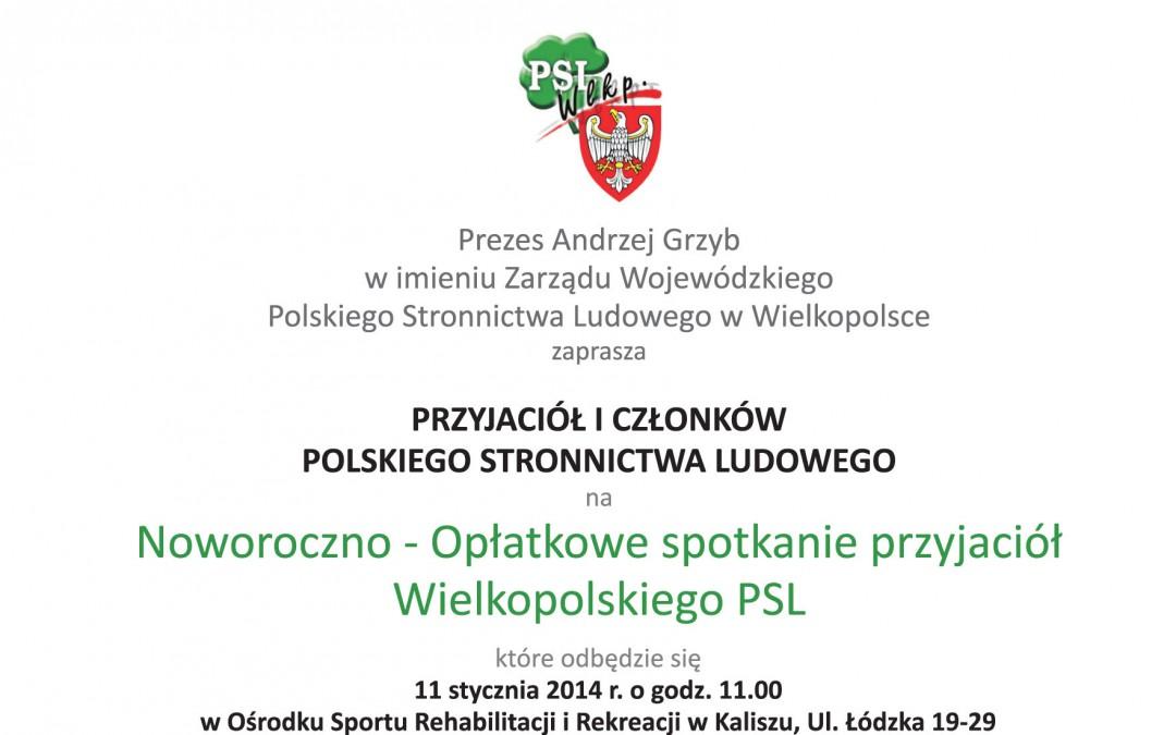 Noworoczno-opłatkowe spotkanie przyjaciół Wielkopolskiego PSL
