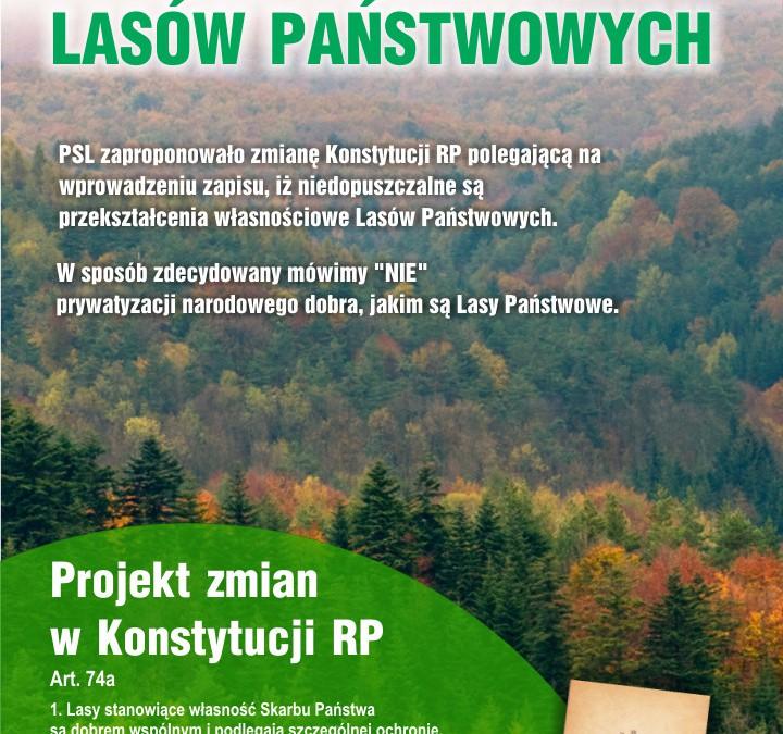 PSL przeciwko prywatyzacji Lasów Państwowych