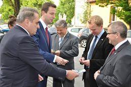 Wizyta Ministra Władysława Kosiniaka-Kamysza w powiecie słupeckim