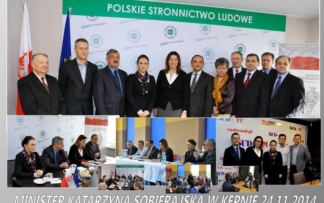 Wizyta Wiceminister Sportu Katarzyny Sobierajskiej w Kępnie