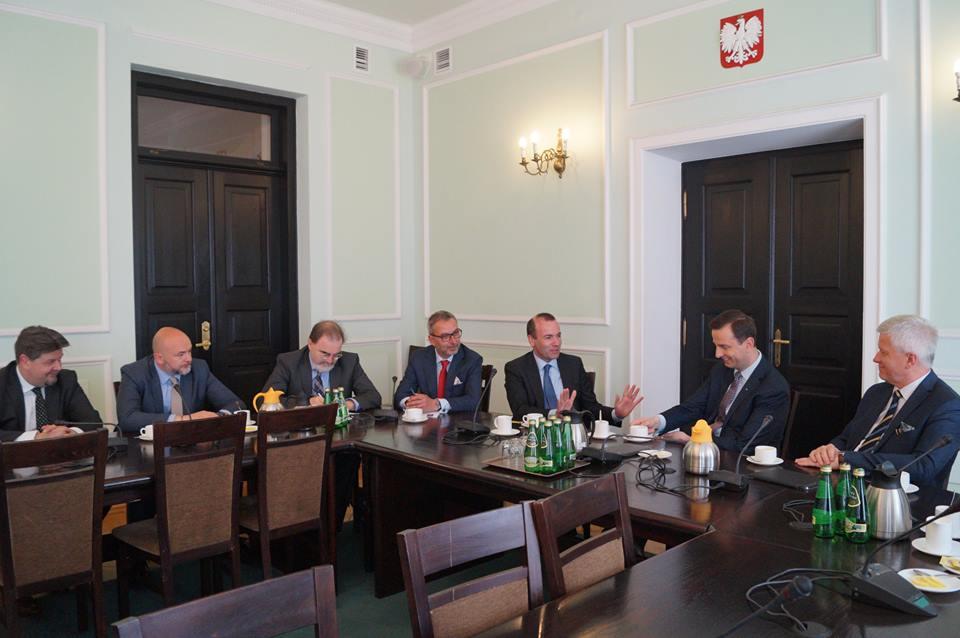 Spotkanie przewodniczącego Grupy Europejskiej Partii Ludowej z polskimi Ludowcami