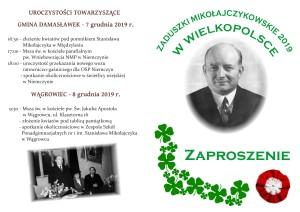Zaproszenie Zaduszki 2019 - Wielkopolska1