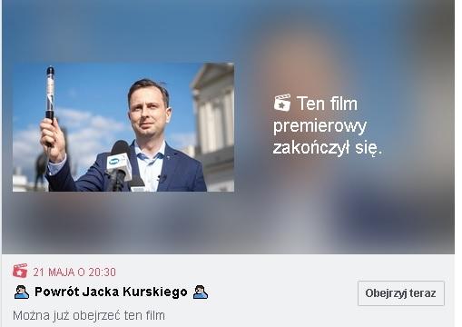 funduszu medycznego nie ma, Jacek Kurski wraca