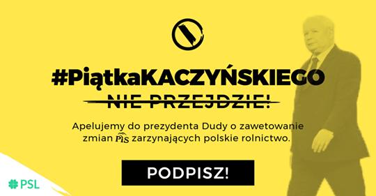 """Zbieramy podpisy pod apelem o weto dla """"Piątki Kaczyńskiego"""""""