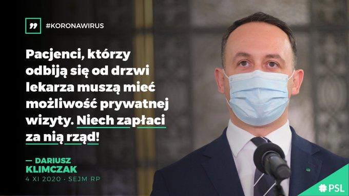 Koronawirus. Za wizyty u prywatnego lekarza niech płaci rząd