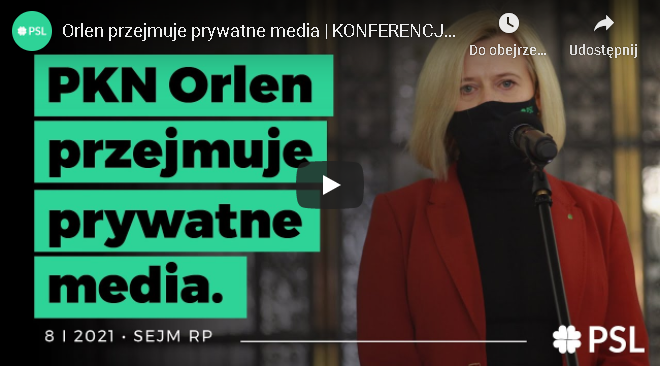 Przejęcie prywatnych mediów przez PKN Orlen. Media na usługach władzy?
