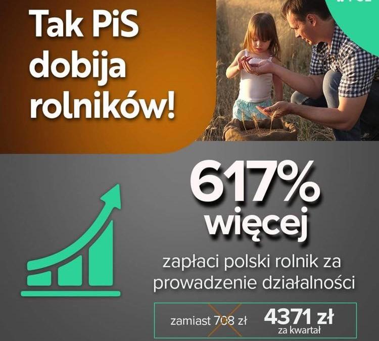 PiS oszukał rolników i zwija polską wieś